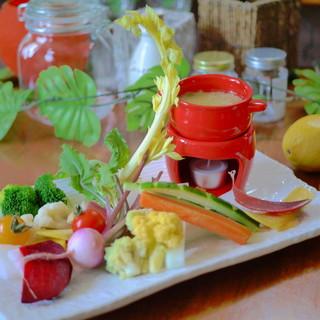 産直野菜たっぷりのヘルシー料理