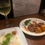 プロヴァンサル - タコのカルパッチョ800と地鶏の白レバー網焼き