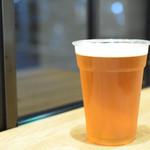 MUNCH'S BURGER STAND - ブルックリン・ラガー@税込780円:バーガーには、やっぱりビールでしょ!