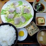 ばんちゃ屋 - ヘルシーポーク定食(御飯中盛)