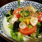 祢保希 - おひさまサラダ ねぼけ塩ポン酢掛け(¥800−)
