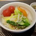 65121693 - 季節の温野菜(自家製ドレッシング付)(2017年4月4日)