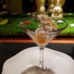 ラトリエ ドゥ ジョエル・ロブション - ローズマリーの香る柑橘のマリネをハチミツレモンのソルベと共に