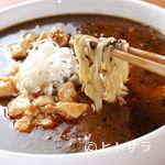 黄さんの家 - 黒ゴマ使用の坦々麺と麻婆豆腐のコラボ 麻婆豆腐坦々麺(900円)