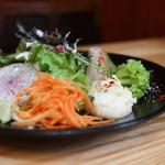 65123631 - 自然栽培野菜サラダ&岐阜県のロマネスコ&里芋の煮付け 人参のラペ&新ジャガのマッシュポテト☆