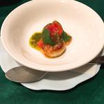 フレンチグリル・アンジェリック - 前菜3品目 帆立貝のソテー  スイートチリソースとバジルソースで