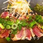 粋憩酔家 家風 - 美味しい地鶏のたたき      550円