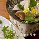 鼓や - 鱧(ハモ)の一人鍋