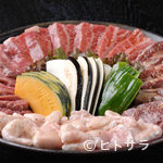 焼肉海鮮 恵美寿 - 恵美寿セット(カルビ・サガリ・牛タン・牛丸腸)