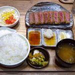オリジンダイニング - 牛かつ定食(国産とろろ付き)