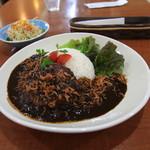 カフェカーム - 料理写真:ハンバーグ黒カレーランチ