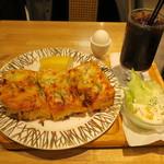 珈琲館 紅鹿舎 - 元祖ピザトーストセット