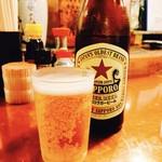 65137978 - 瓶ビールでぷはぁ♡