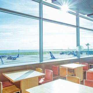 見晴らしの良い5階新展望台併設カフェ!