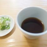 蕎麦 心空 - つゆ、薬味