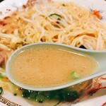 ざぼんラーメン - スープ塩薄豚骨