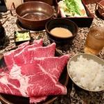 しゃぶ亭 - 牛しゃぶ定食