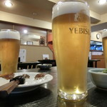 そば地酒処 司 - 「生ビール(エビス)650円