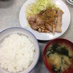 伊勢屋食堂 - 豚ロース生姜焼定食