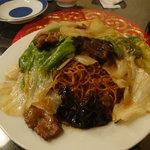 慶楽 - カキ油牛肉焼きそば