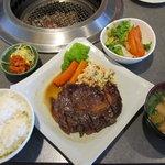 6515891 - 牛ロースステーキ定食(609円)