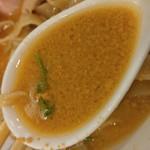 極汁美麺 umami - Mad Swallow-鮟肝ペースト溶かし後