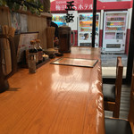 天ぷら海鮮 五福 - カウンター席は意外に落ち着くのよねー