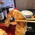 天ぷら海鮮 五福 - かぼちゃも揚げると甘いのよね〜