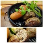 65155853 - ハンバーグは粗びきで好みの食感。