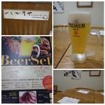 65155858 - ドリンクは数種類から選べますが「生ビール」を。 よく冷えたビールは一口目が美味しいこと。^^