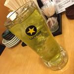 一軒め酒場 - 玉露入り緑茶割り(190円+税)2017年3月