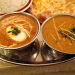 シタル - ひき肉と卵のカレー、豆カレー