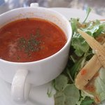 6516716 - パスタセットのサラダ・スープ