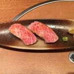 レストラン千成亭 - 近江牛とろステーキ握り