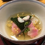 近藤 本店 - 甘鯛の桜蒸し