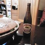 玉勝 - ビールと座敷入口