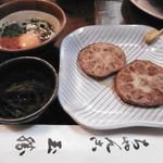 玉勝 - 小鉢と蓮根肉詰め