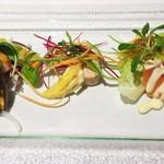 レストラン ラ・カンサトゥール - お魚の前菜3品盛り合わせ