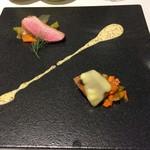 レストラン ラ・カンサトゥール - お肉前菜2品盛り合わせ