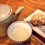 冨陽 - 温泉まんじゅうの天ぷらと蕎麦湯
