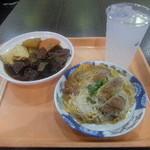 レストラン 笑和 - 料理写真:レモンハイに牛モツ煮こみ、カツ煮
