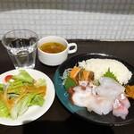 ととバルnemuro - ランチ:北海道直送 お刺身プレート