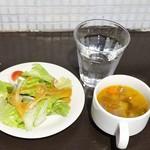 ととバルnemuro - ランチ:サラダ、スープ