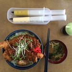 丼の芝楽 - カツ丼(ソース)
