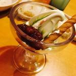 焼肉きんぐ - ミニパフェ 抹茶&あずき