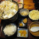 お食事の店萬福 - 牡蠣鍋定食