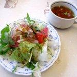 レストラン ペリカン - 料理写真:サラダ&スープ!