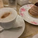 カフェ・ド・カンパーニュ - モンブランのケーキセット