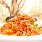 65177700 - プレジャー 3780円 の桜海老と青龍菜のアラビアータスパゲッティ