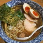 麺屋 きよたか - 濃厚煮干し中華そば(味玉つき)